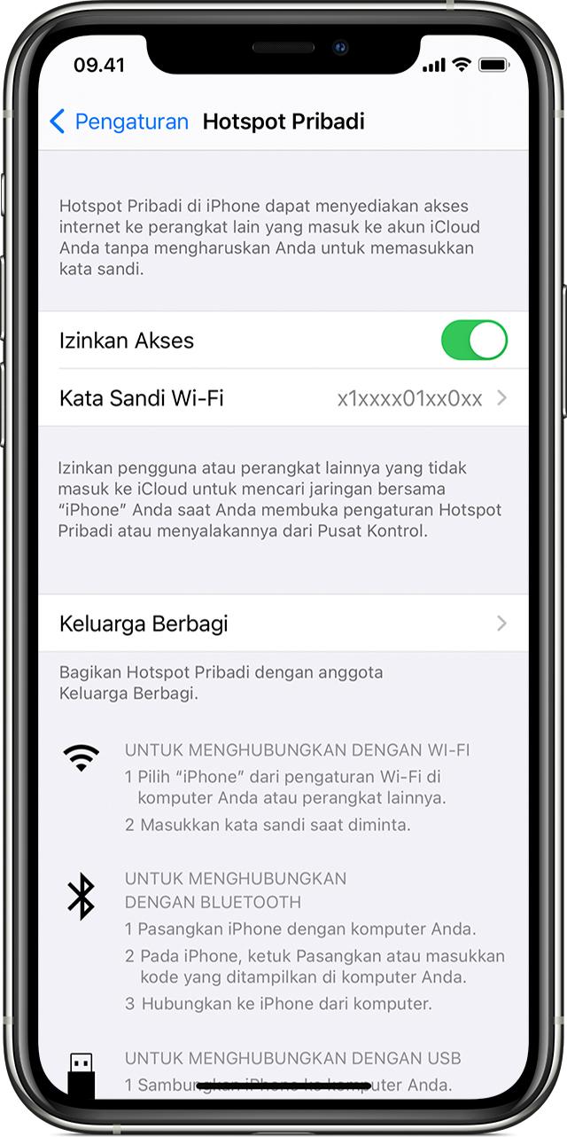 Cara mengatur Hotspot Pribadi di iPhone atau iPad - Apple Support
