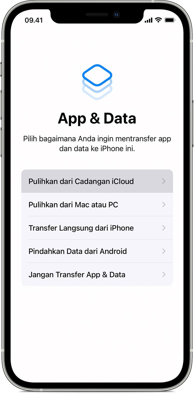 Menggunakan Icloud Untuk Mentransfer Data Dari Perangkat Ios Lama Ke Iphone Ipad Atau Ipod Touch Baru Apple Support