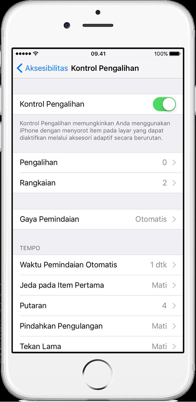 Menggunakan Kontrol Pengalihan Untuk Menavigasi Iphone Ipad Atau