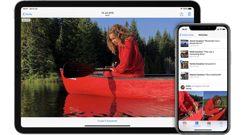 Cara Berbagi Album Di Foto Di Iphone Ipad Dan Mac Apple Support