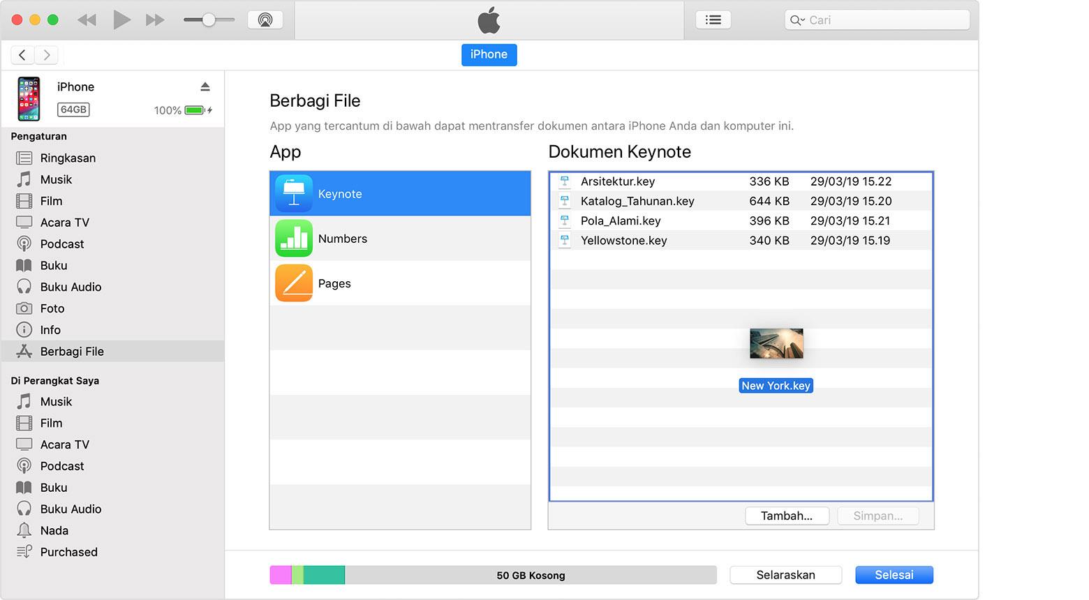 Menggunakan Itunes Untuk Berbagi File Di Antara Komputer Dan Perangkat Ios Atau Ipados Apple Support