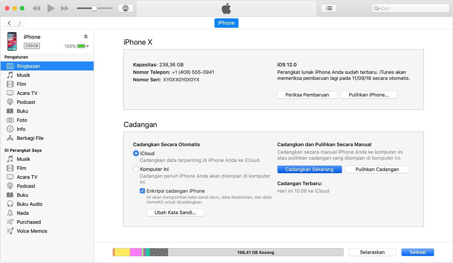 Cara Mencadangkan Iphone Ipad Dan Ipod Touch Apple Support