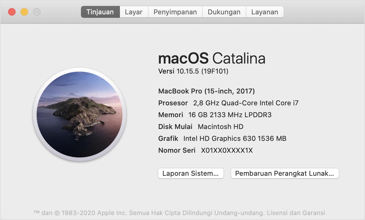 cara melihat spesifikasi macbook - Teknoid