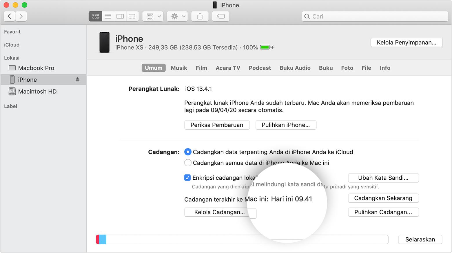 Cara mencadangkan iPhone, iPad, dan iPod touch - Apple Support