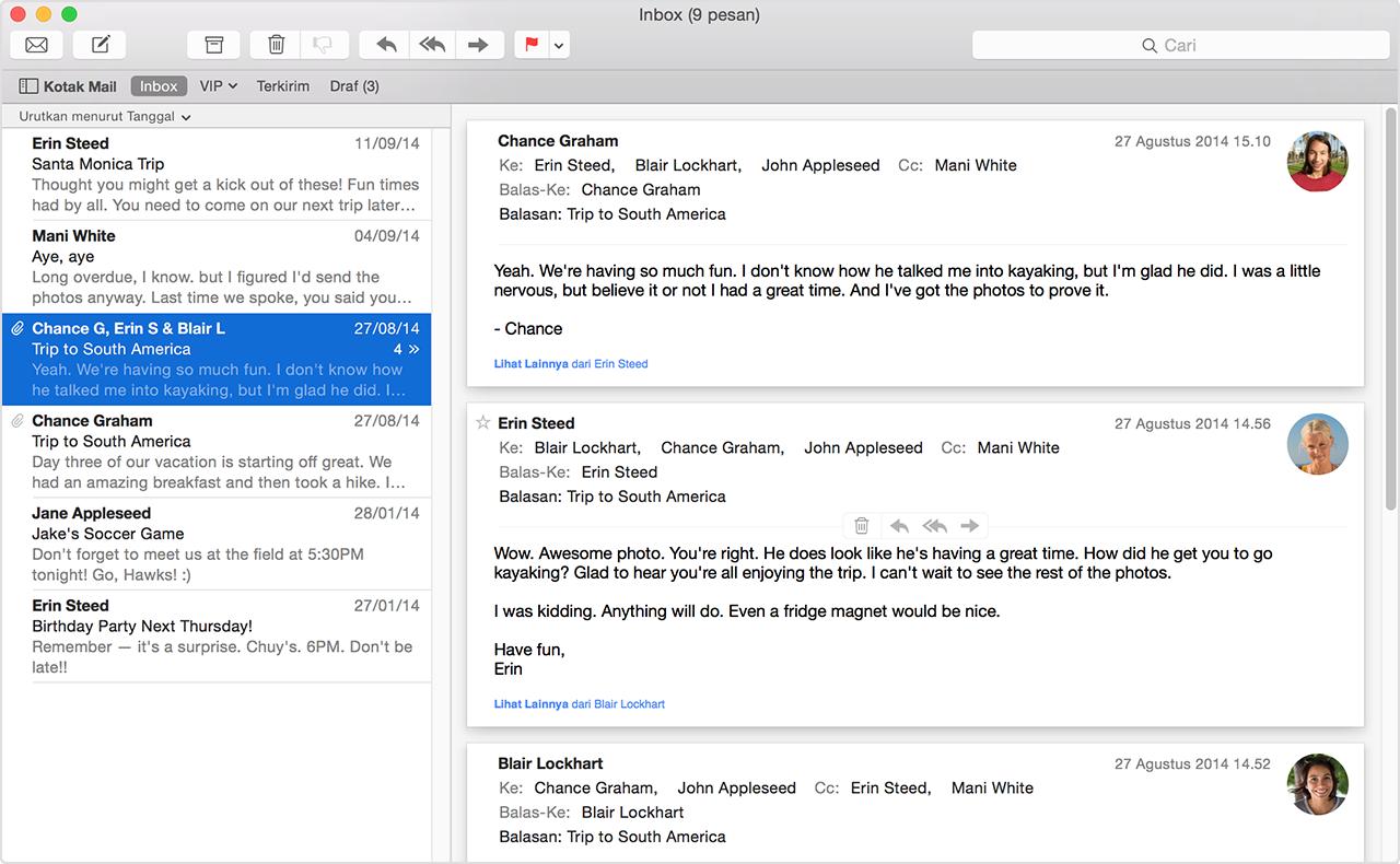 Menggunakan Mail Di Mac