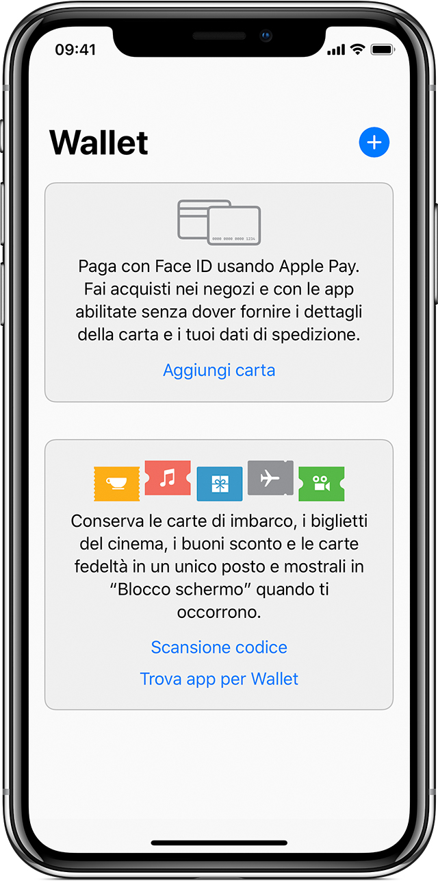 App Wallet su iPhone