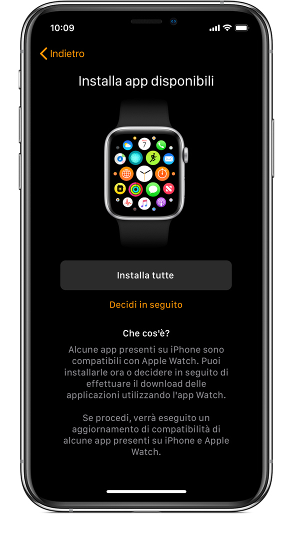 Schermata Installa app disponibili su iPhone