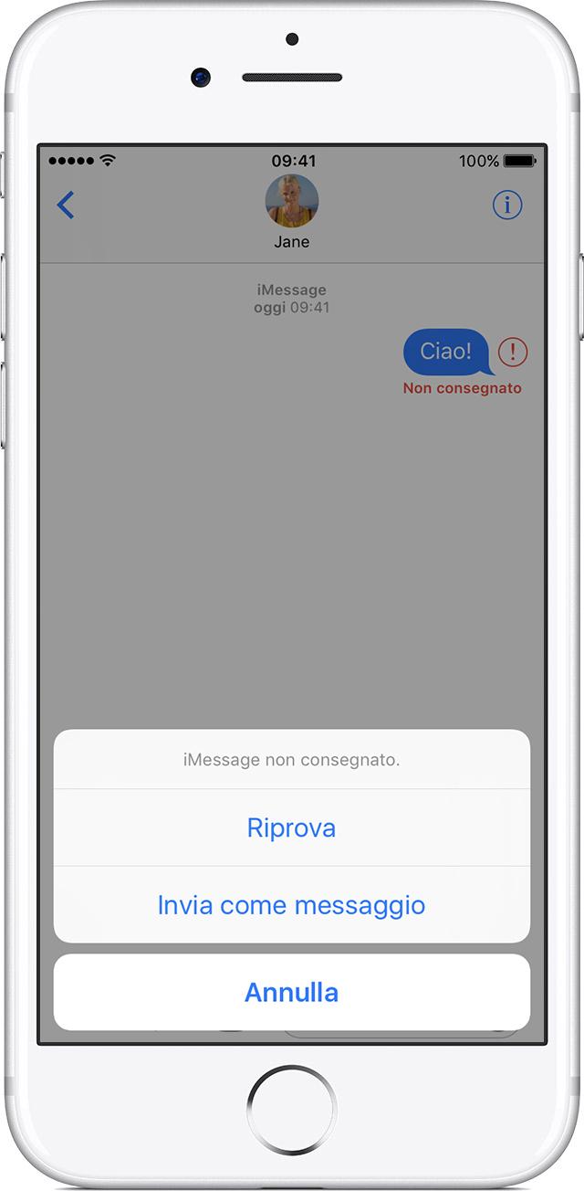 Favorito Se non riesci a inviare o ricevere messaggi sull'iPhone, sull'iPad  VG03