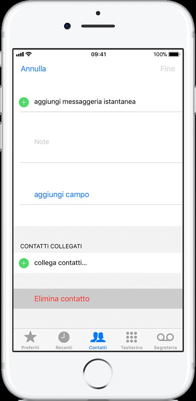 Très Gestione ed eliminazione dei contatti sull'iPhone, l'iPad o l'iPod  XO18