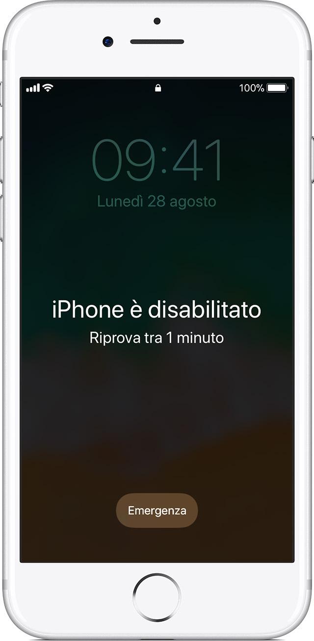 come vedere se iphone 7 è bloccato