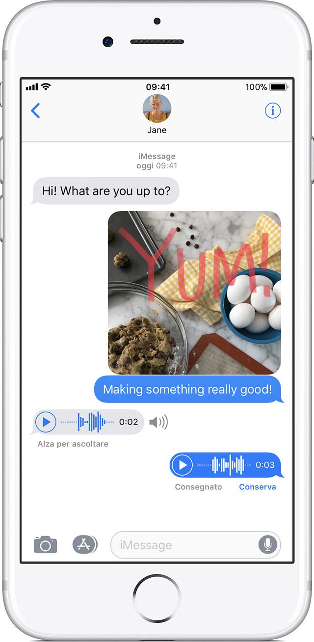 Très Come inviare messaggi fotografici, video o audio su iPhone, iPad o  CP19