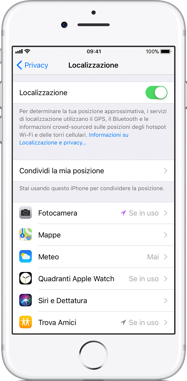 spiare con trova iphone