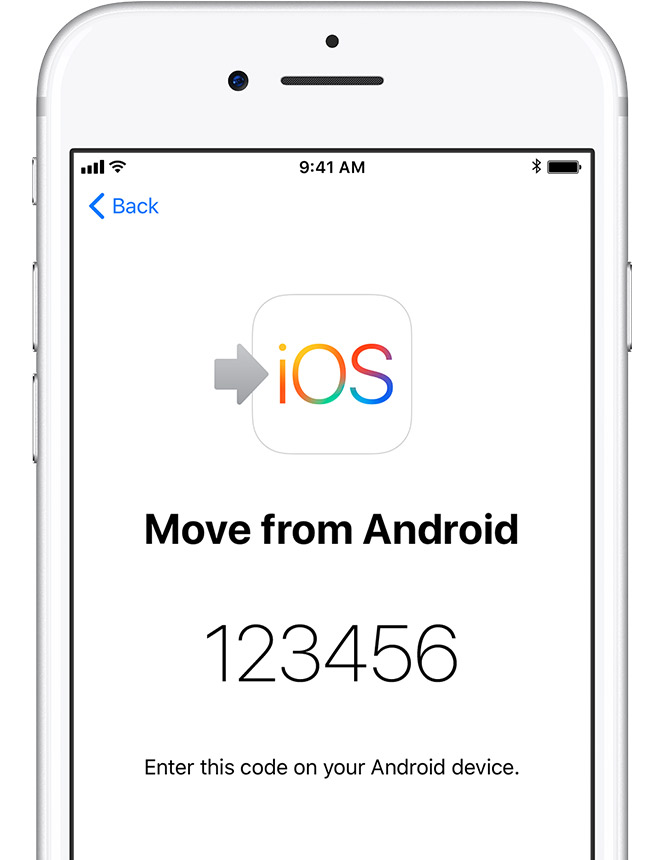 ios11 iphone7 setup move from android code steps