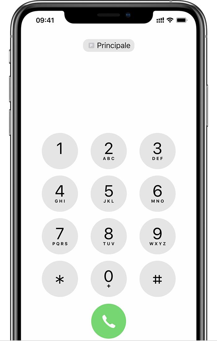 numero cellulare iphone