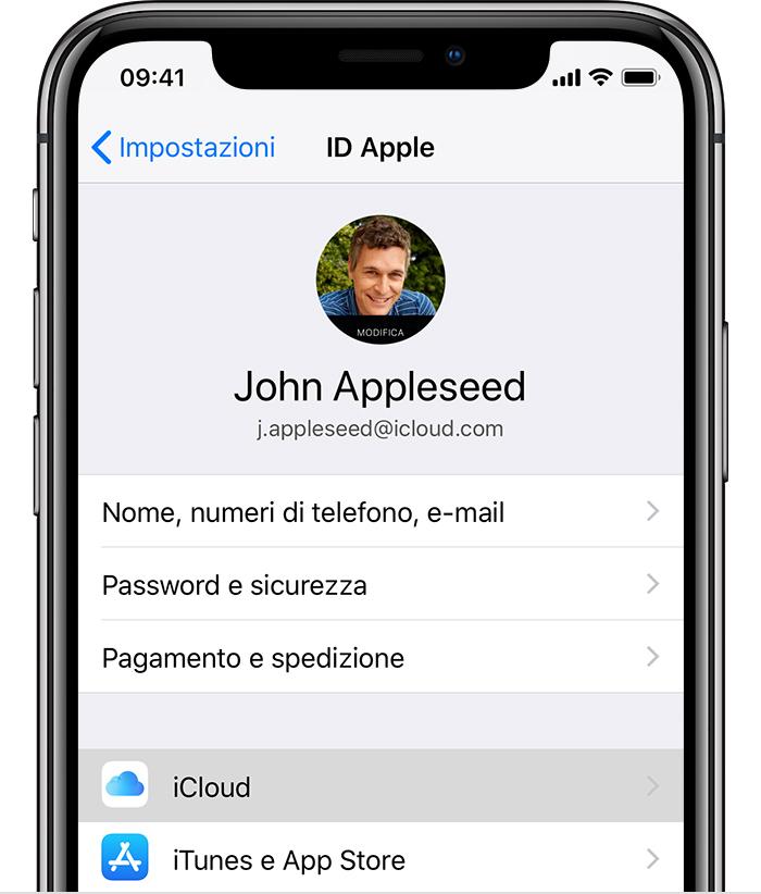 trovare password iphone X