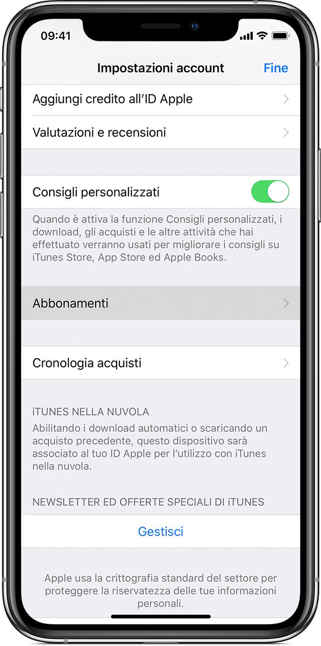 controllare iphone abbonamento