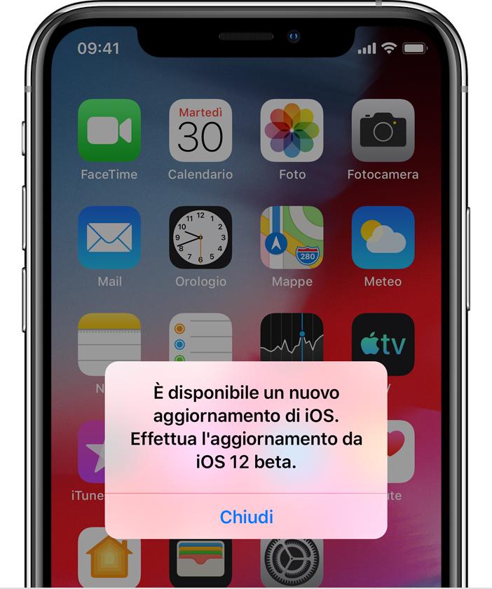 Requisiti per aggiornare iOS 10