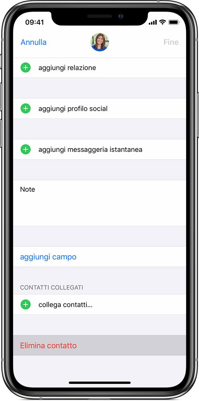 Gestire Ed Eliminare I Contatti Su Iphone Ipad O Ipod Touch Supporto Apple