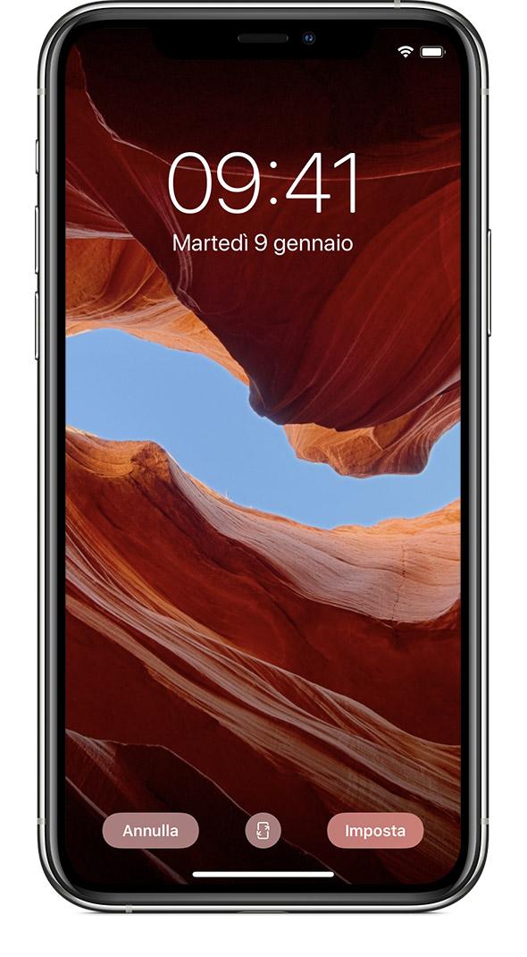 Preferenza Cambiare lo sfondo dell'iPhone - Supporto Apple DS59