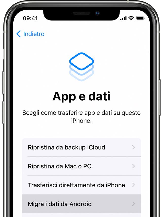 Come Passare Da Android A Iphone Ipad O Ipod Touch Supporto Apple