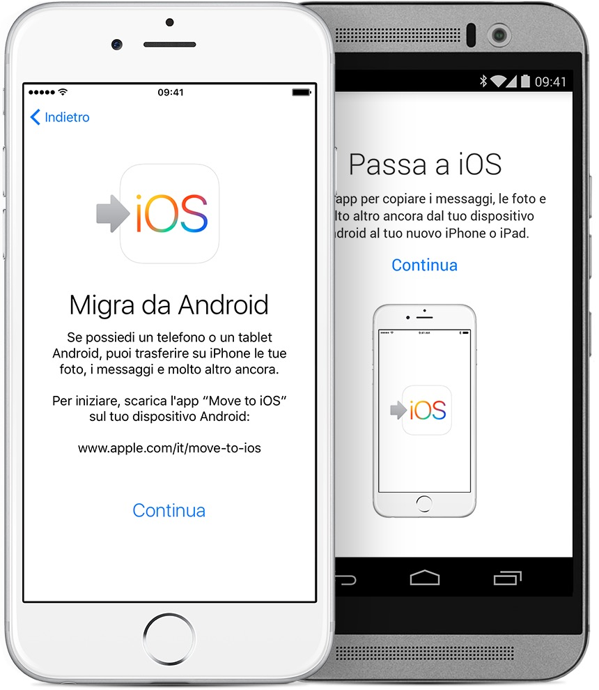 Come passare da android a iphone ipad o ipod touch for Ipad o android