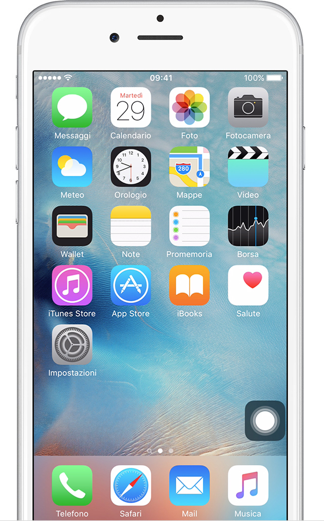 schermata home originale iphone 6