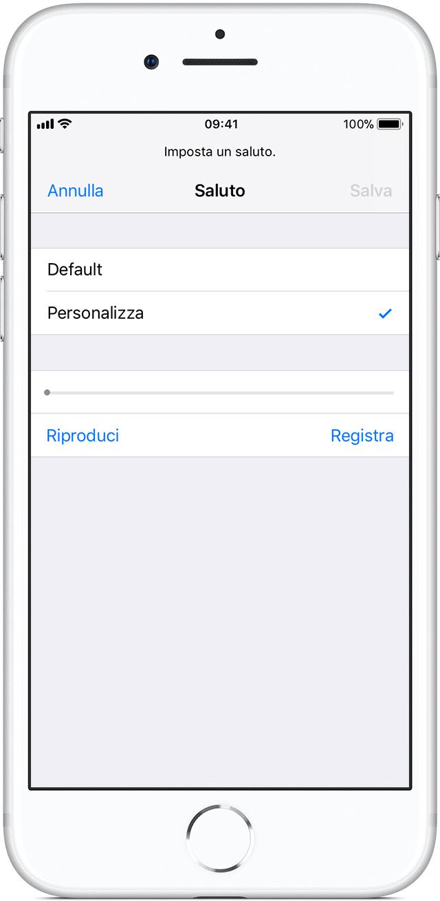 Très Configurazione della Segreteria visiva su iPhone - Supporto Apple CP19