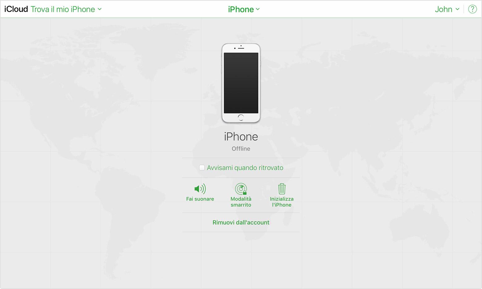 id apple trova il mio iphone
