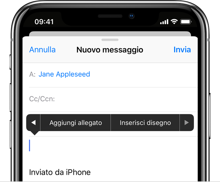 allegati mail su iphone