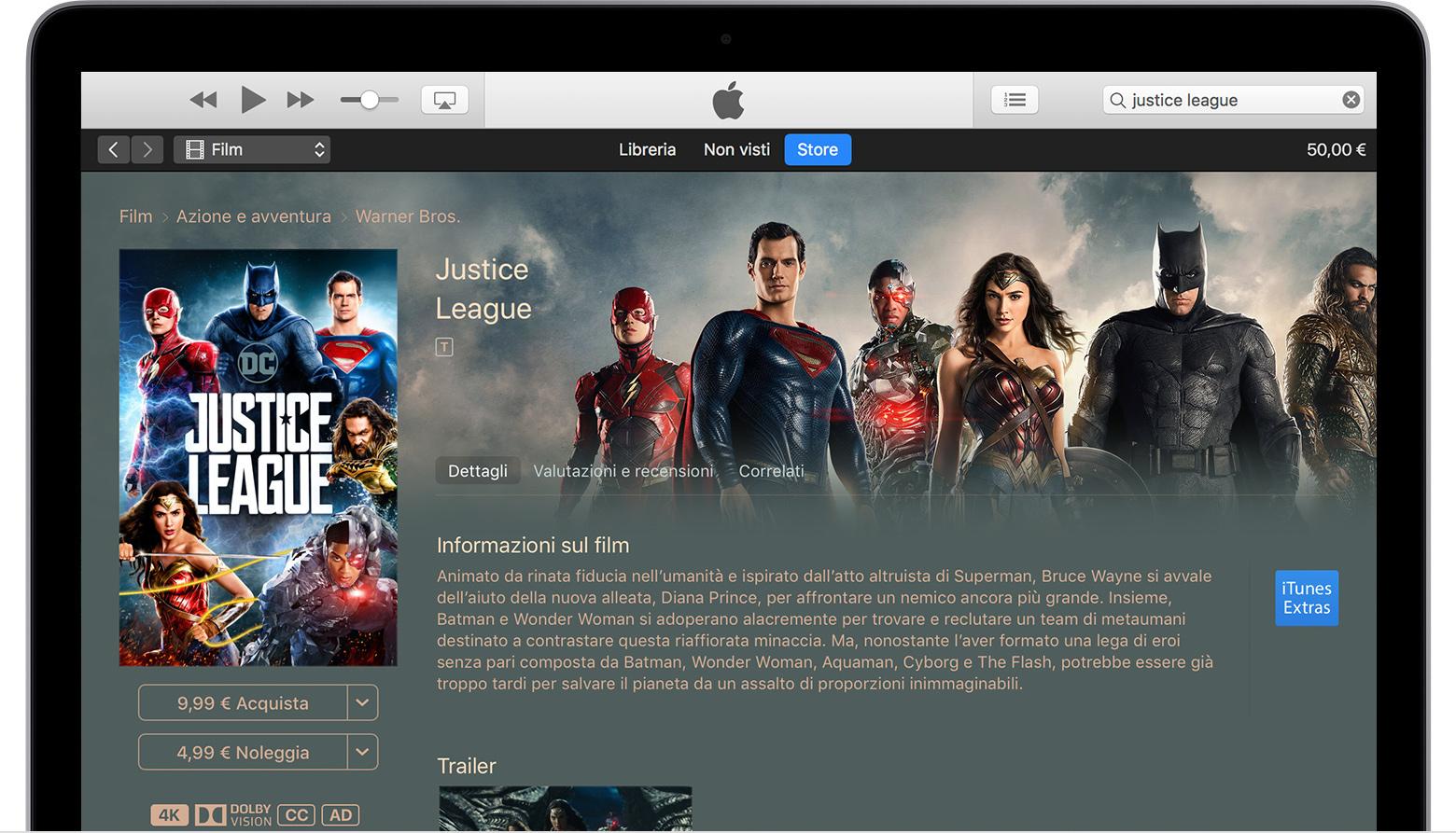 Scaricare o guardare in streaming film e programmi tv dall 39 itunes store supporto apple - La finestra sul cortile streaming ...