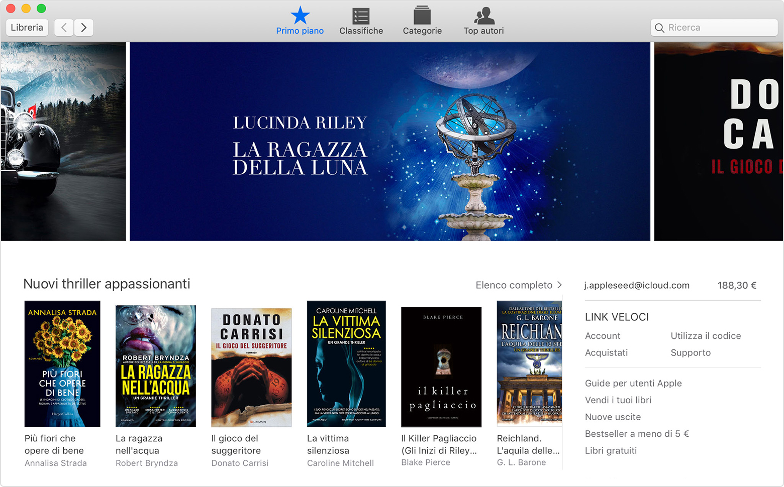 Apple Books su Mac con il Book Store visualizzato