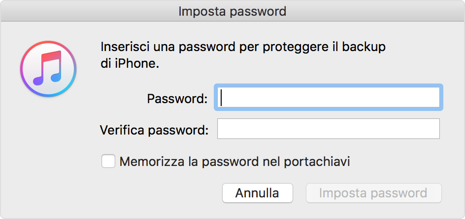 what is my iphone backup password informazioni sui backup codificati in itunes supporto apple 5164
