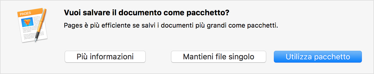 Avviso di Pages