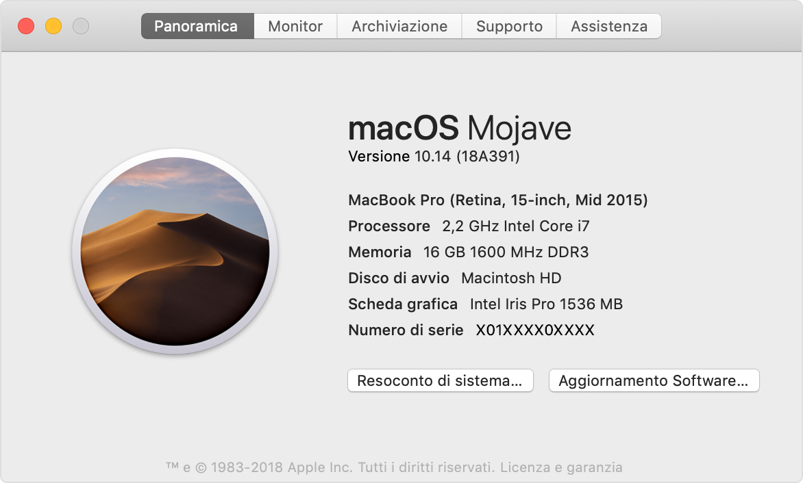 come vedere versione ios su mac