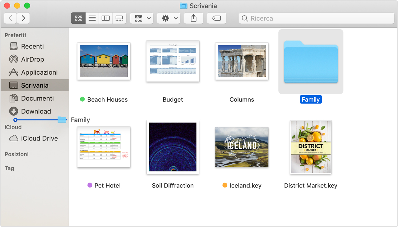 ridurre a icona su mac