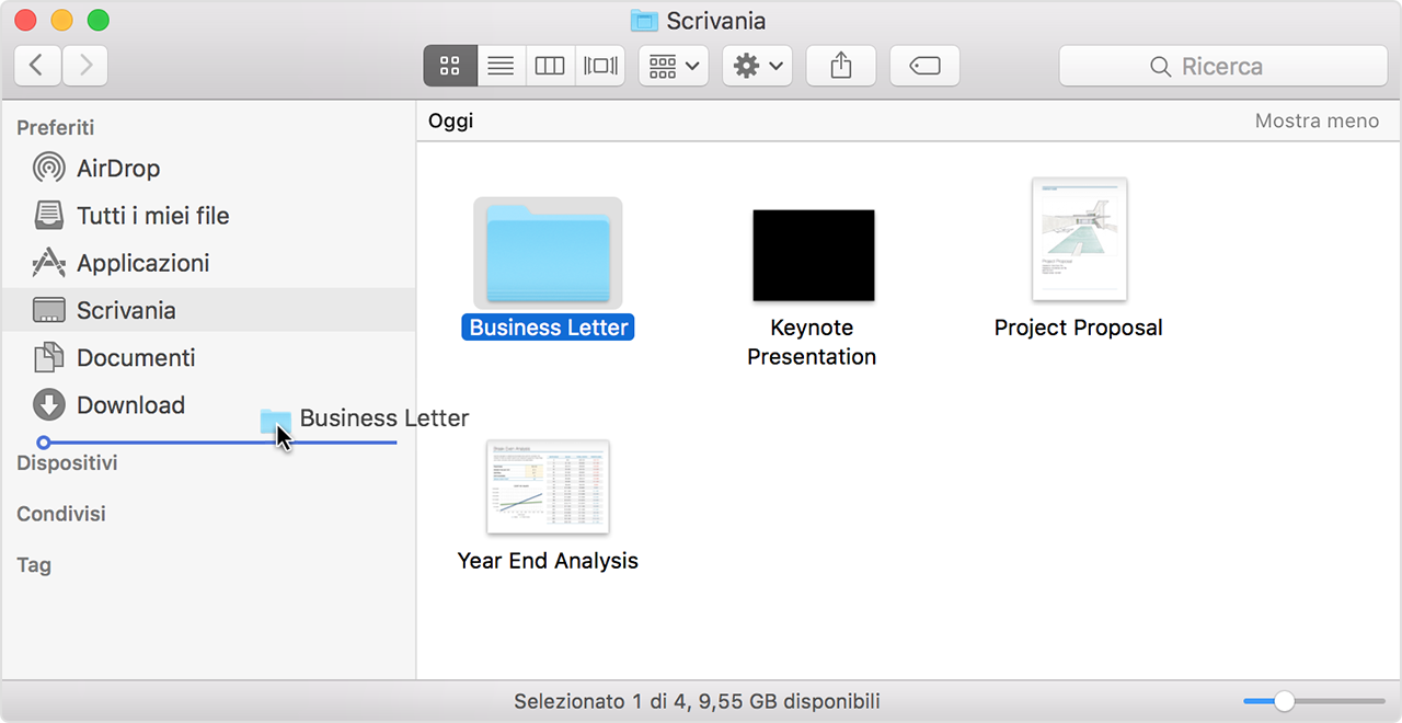 come usare finder su mac