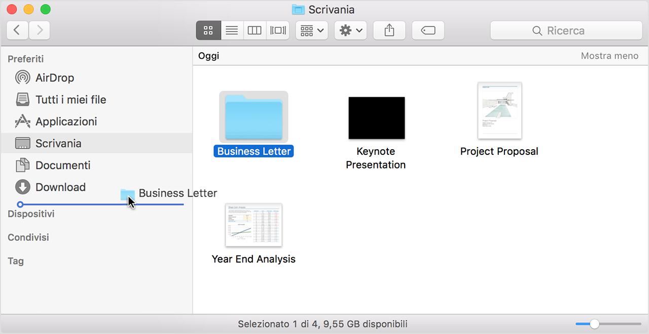 come usare finder su mac