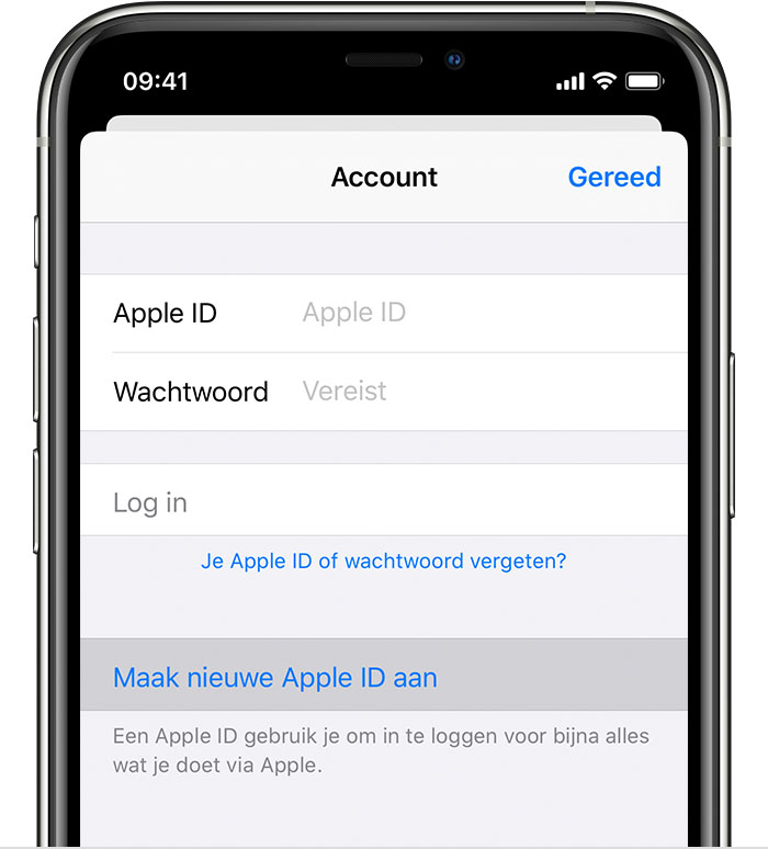 Een Nieuwe Apple Id Aanmaken Apple Support