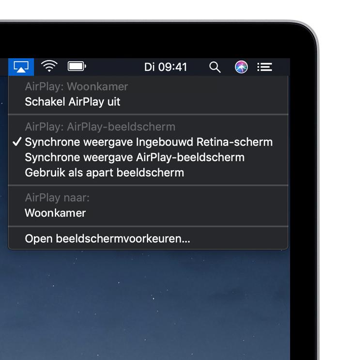 Stream video via AirPlay en geef het scherm van uw apparaat ...