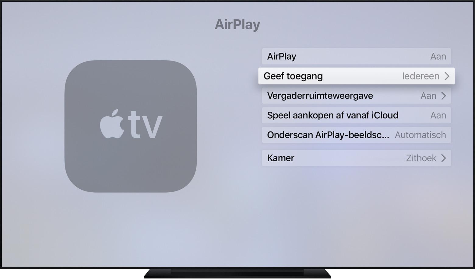 Airplay Instellingen Beheren Op Uw Apple Tv Apple Support