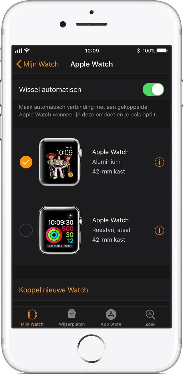 Apple Watch-instellingen