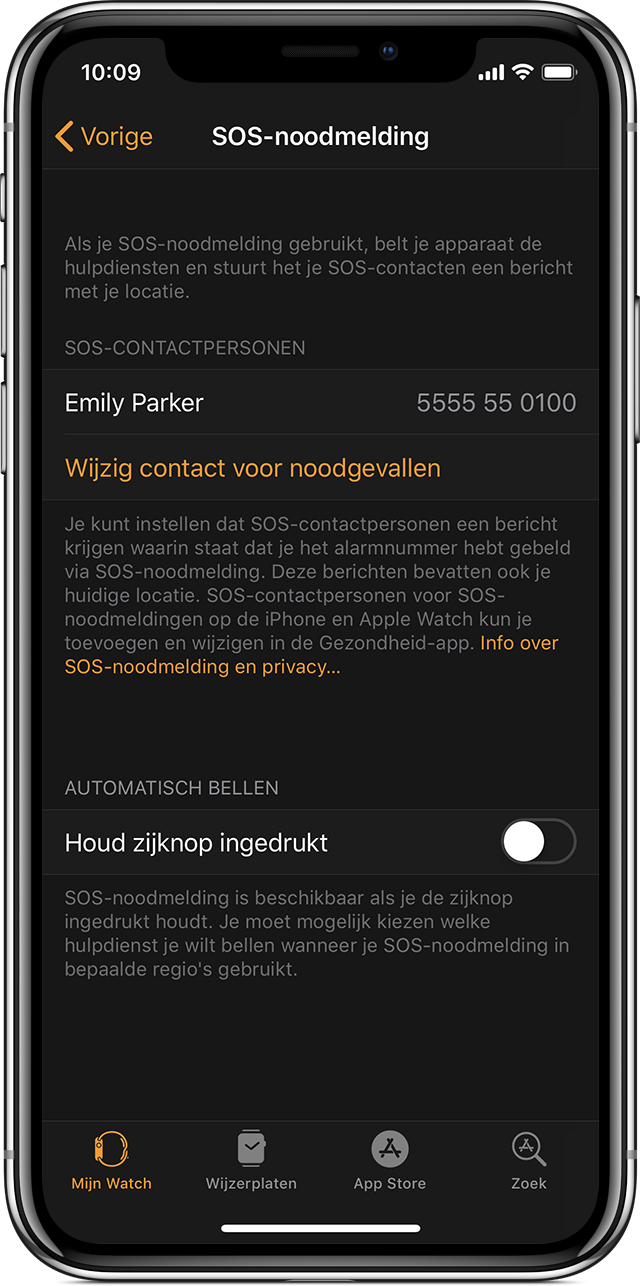 Sos Noodmelding Gebruiken Op Apple Watch Apple Support