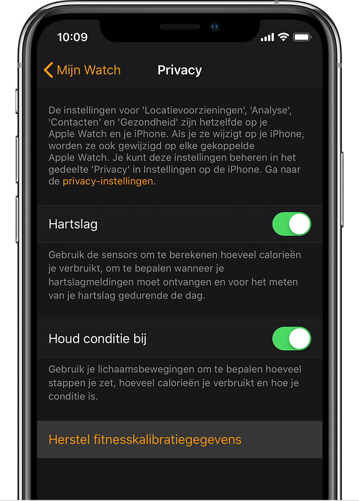 Privacy-instellingen op iPhone