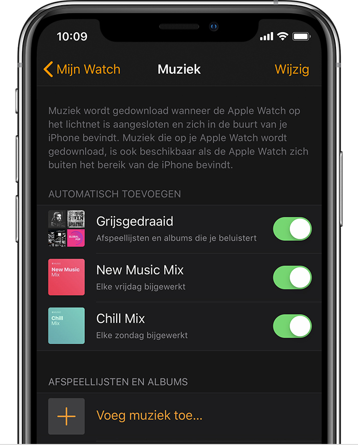 De Watch-app op een iPhone