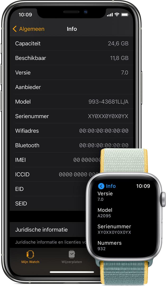 Het serienummer of IMEI-nummer van een Apple Watch vinden ...