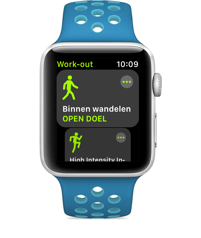 Work-outs in de Work-out-app