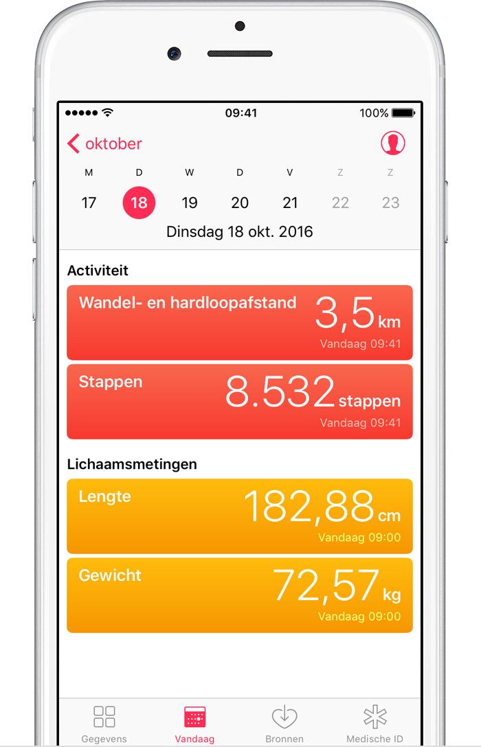 Gezondheid app iphone fietsen