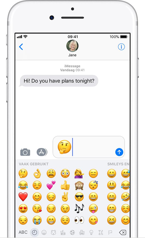 emoji op uw iphone ipad en ipod touch gebruiken apple support. Black Bedroom Furniture Sets. Home Design Ideas
