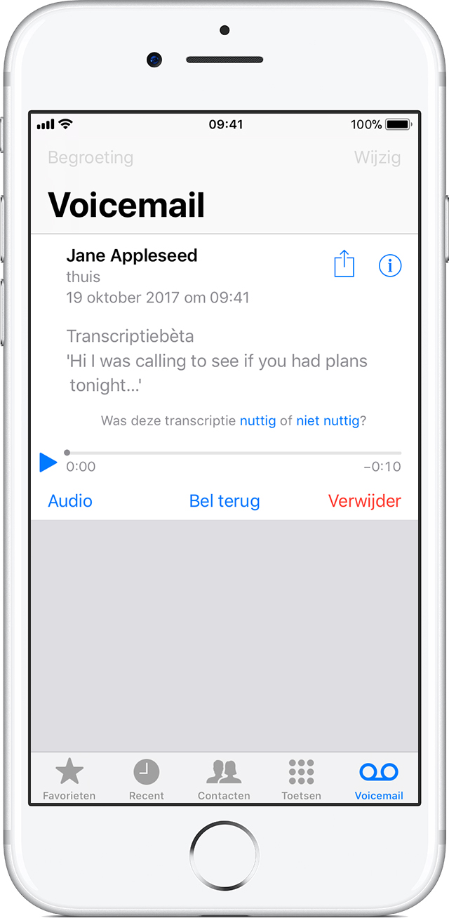visual voicemail iphone visual voicemail berichten bewaren op een iphone apple 13250