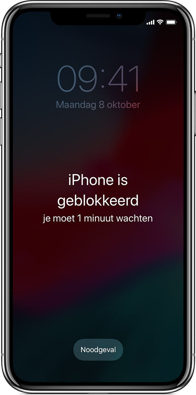 scherm 'iPhone is geblokkeerd'